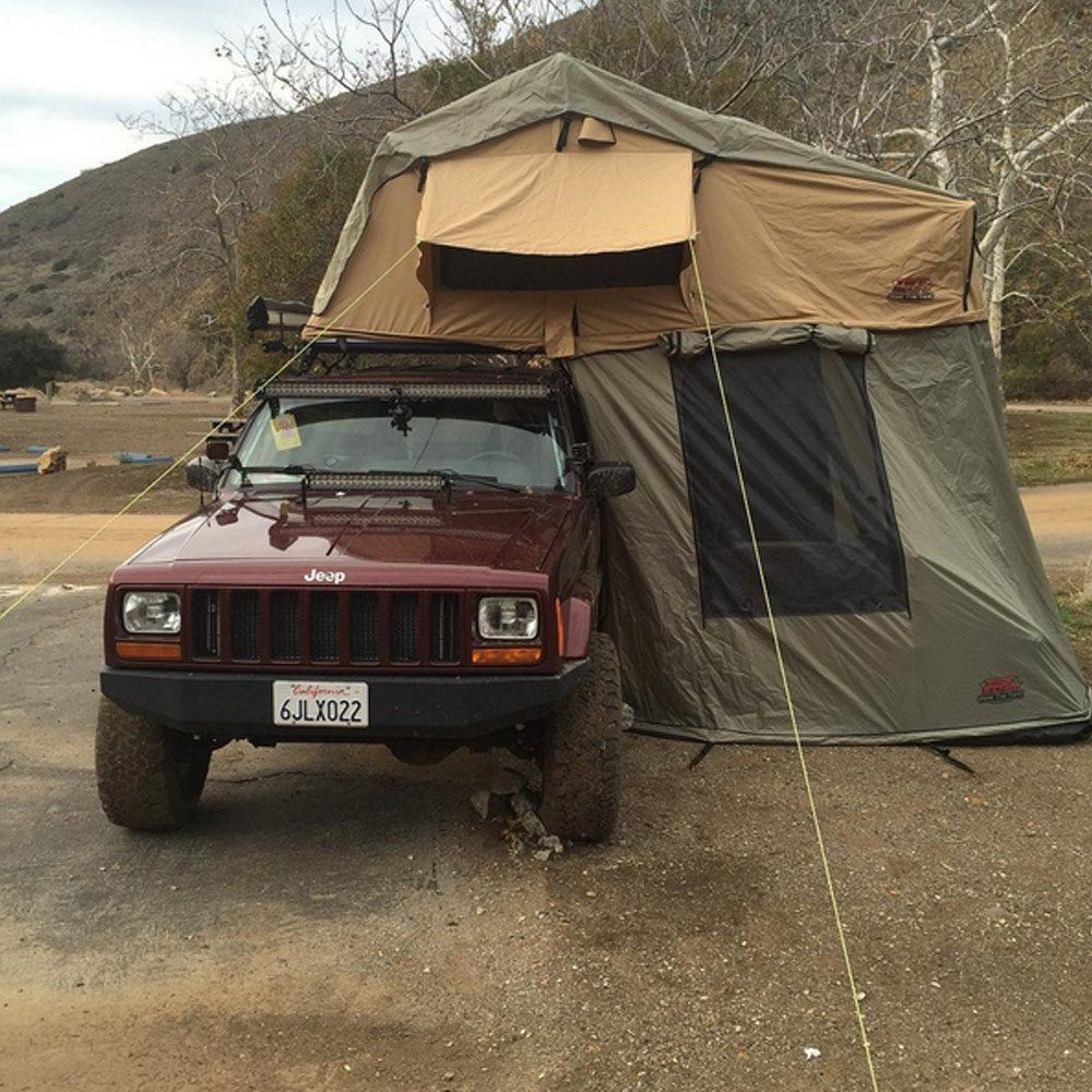Tuff Stuff Overland Rooftop C&ing Tent with Annex Room- Black Driving Cover | Roof Top Tent Store | Jeep Wranglers | Pinterest | Roof top tent ... & Tuff Stuff Overland Rooftop Camping Tent with Annex Room- Black ...