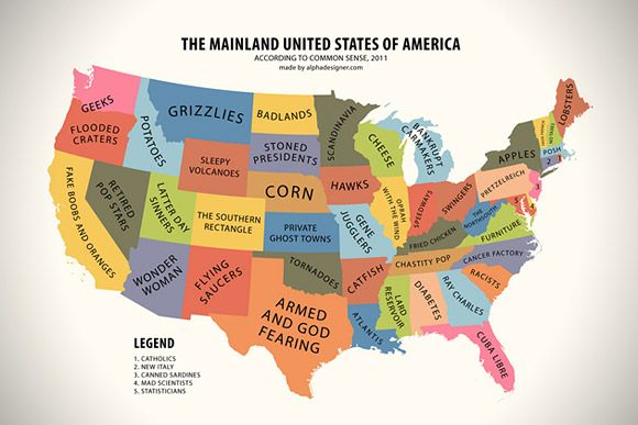 Us Map Funny.Common Sense Usa Map So Awful It Is Funny Things That Make Me