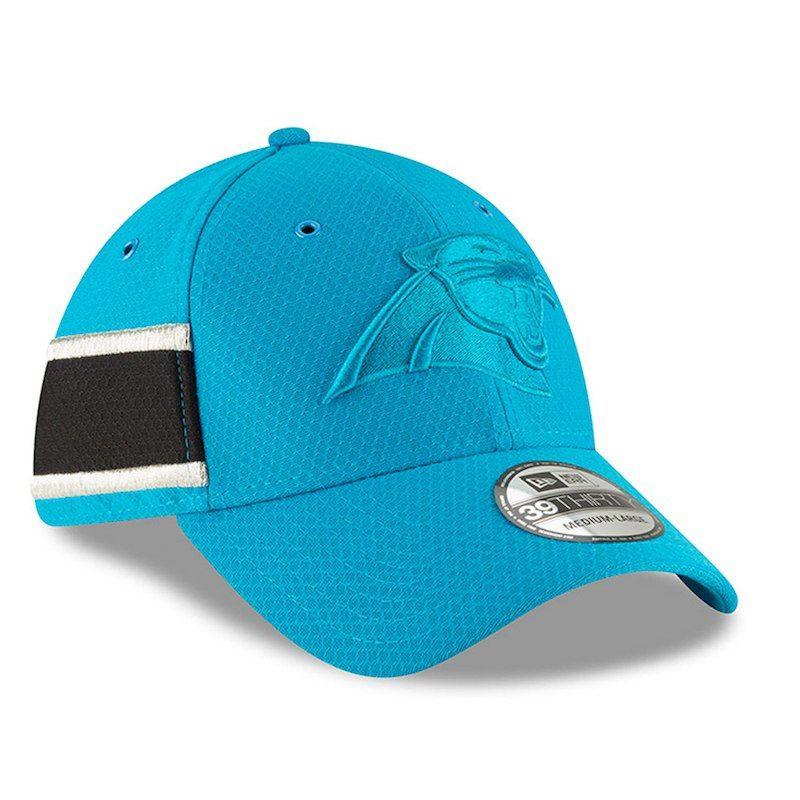 Carolina Panthers New Era 2018 NFL Sideline Color Rush Official 39THIRTY  Flex Hat – Light Blue d2b3dc86b