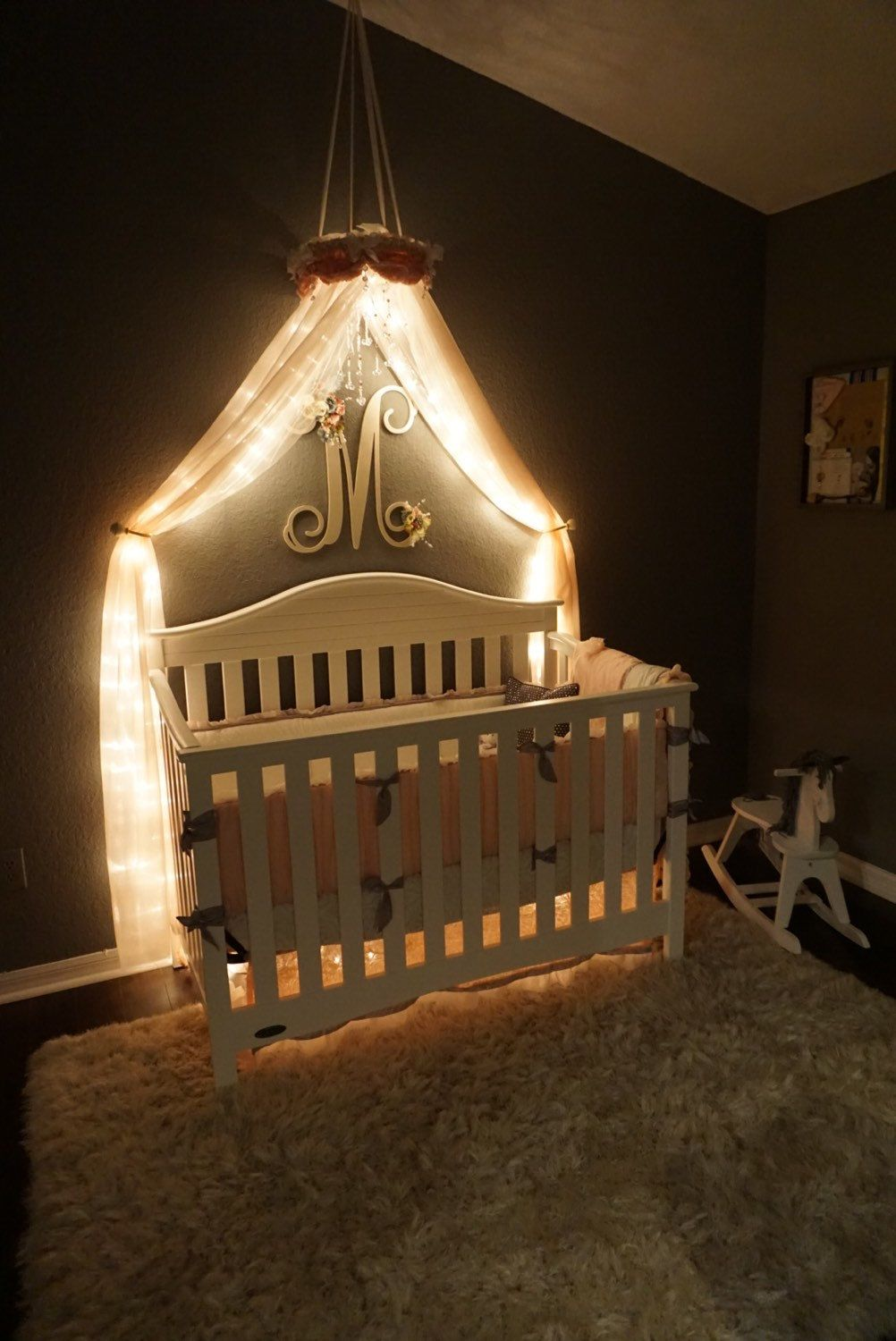 Nursery Canopy Crib Canopy Crown Baby Canopy Baby Crib Mobile Bed