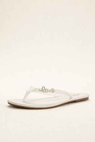 f3ce1460e8d8ec Zoey is also available in Ivory as Style ZOEYI and in David s Bridal  Exclusive Coordinating colors as Style ZOEY. Bridal White flip flop ...