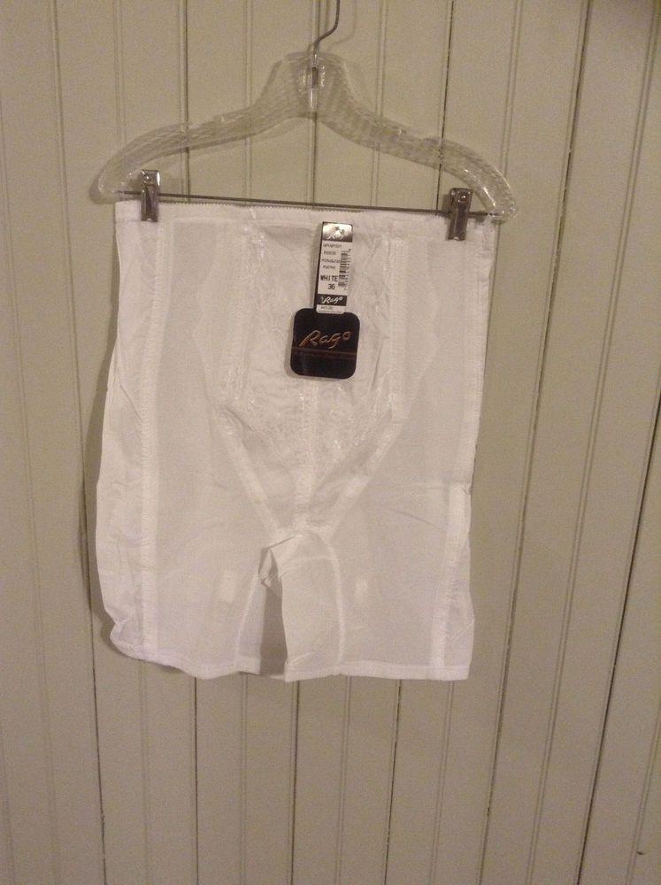 9278064a9ddac NIP Vintage white Rago high waist long leg Girdle w  zipper   garters (2hl)