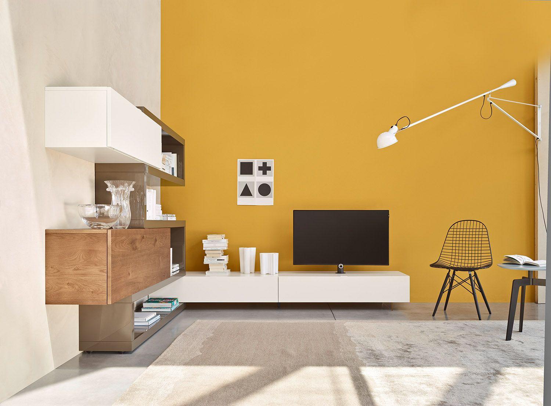 Die Moderne Wohnwand Von Livitalia Passt Perfekt Um Die Ecke. #Wohnwand  #Livitalia #