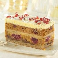 This is our kind of fall dessert // Pumpkin Cranberry Stack by Sweet Street Desserts