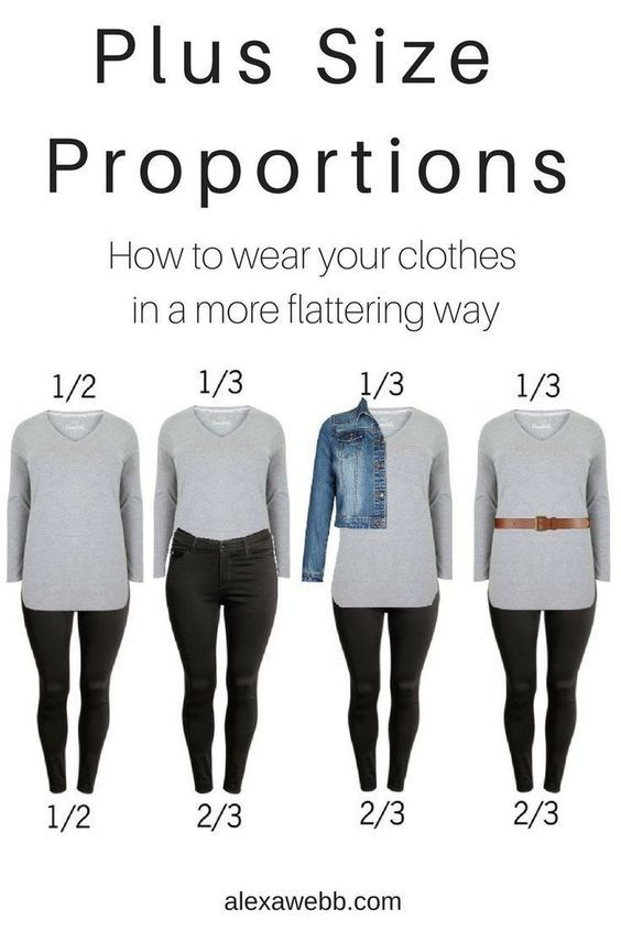 0a39e820f63 Plus Size Proportions - How to wear your clothes in a more flatting way
