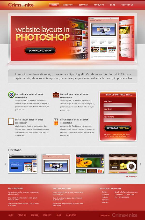 websites layouts templates