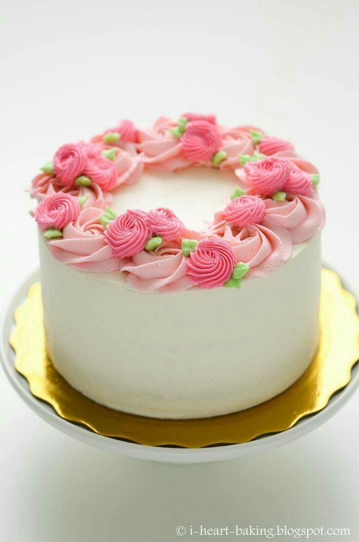 Simple Rose Cake Simple Birthday Cake Cake Decorating Cake