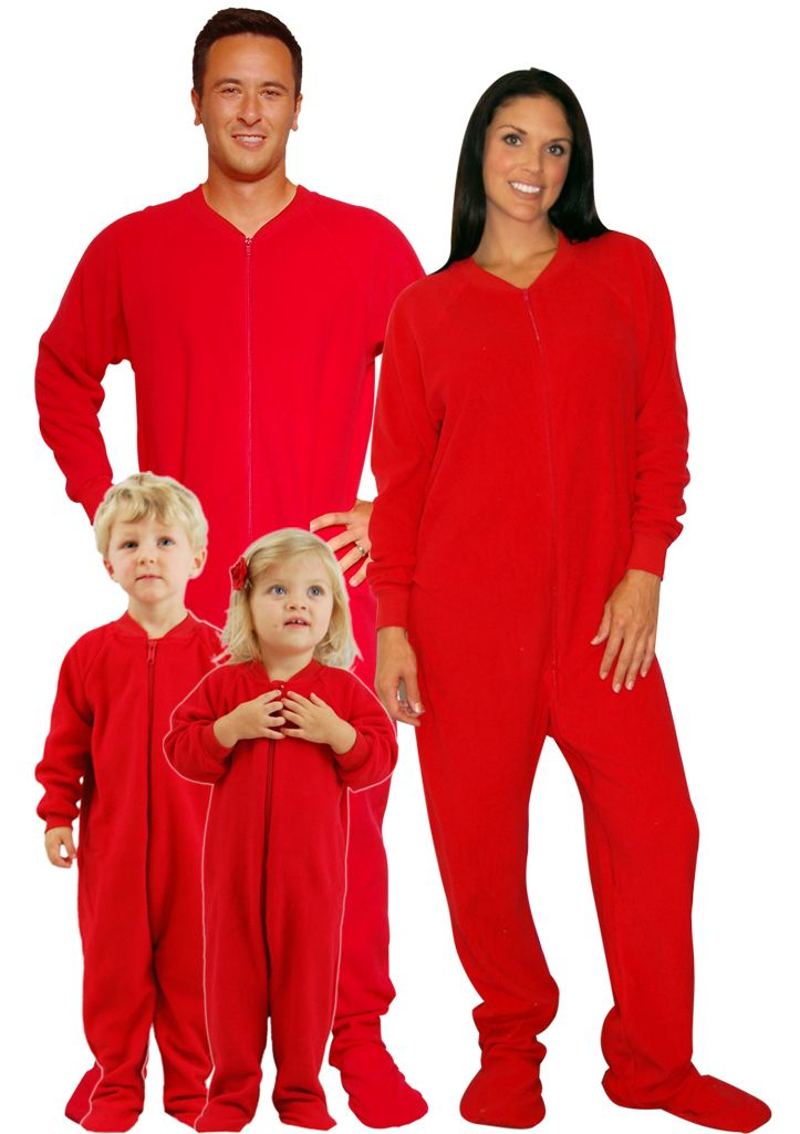 8a3324fbd7 Red Footed Family Matching Fleece Pajamas by SleepytimePjs ...