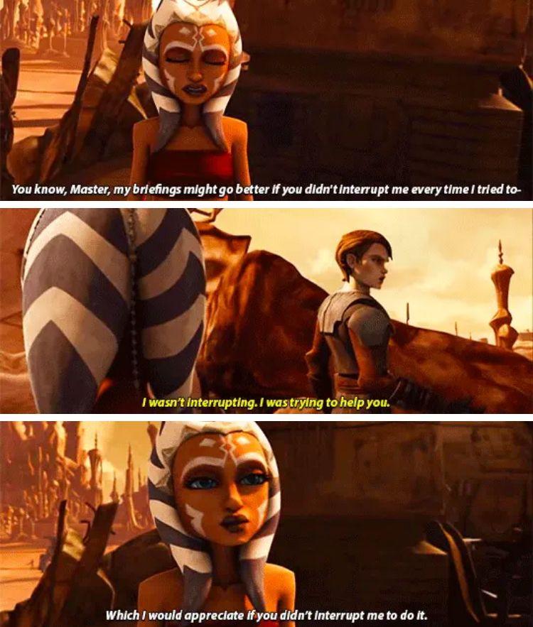 Sassy Ahsoka Star Wars Memes Star Wars Ahsoka Star Wars Humor