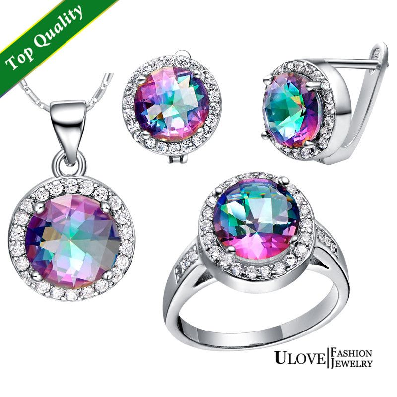 Find More Jewelry Sets Information about Bridesmaid Jewelry Set Round Multicolor Earrings Rings Pendants Silver Sets with Free Chain Gift Engagement Accessories T484,High Quality necklace fan,China necklace charms for women Suppliers, Cheap necklace perfume from ULOVE Fashion Jewelry Official Store on Aliexpress.com
