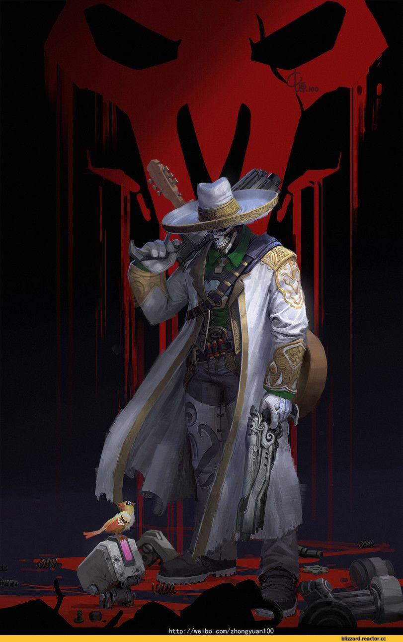 Reaper (Overwatch),Overwatch,Blizzard,Blizzard Entertainment,фэндомы,Overwatch art,ZhongYuan