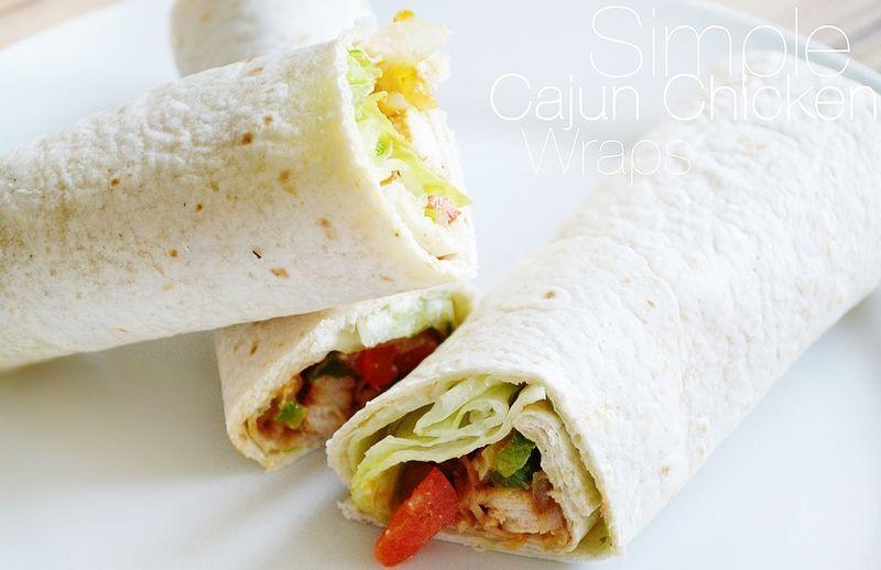 Cajun Chicken Wraps