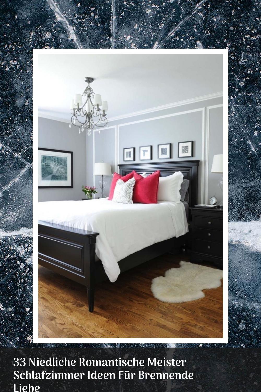 33 Niedliche Romantische Meister Schlafzimmer Ideen Fur Brennende