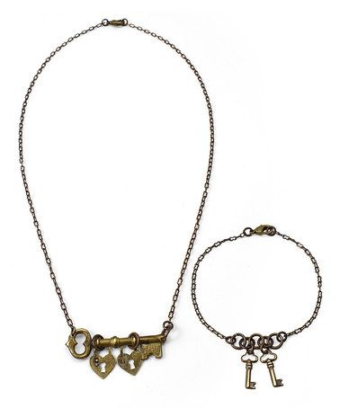 Another great find on #zulily! Heirloom Key DIY Necklace & Bracelet Kit #zulilyfinds
