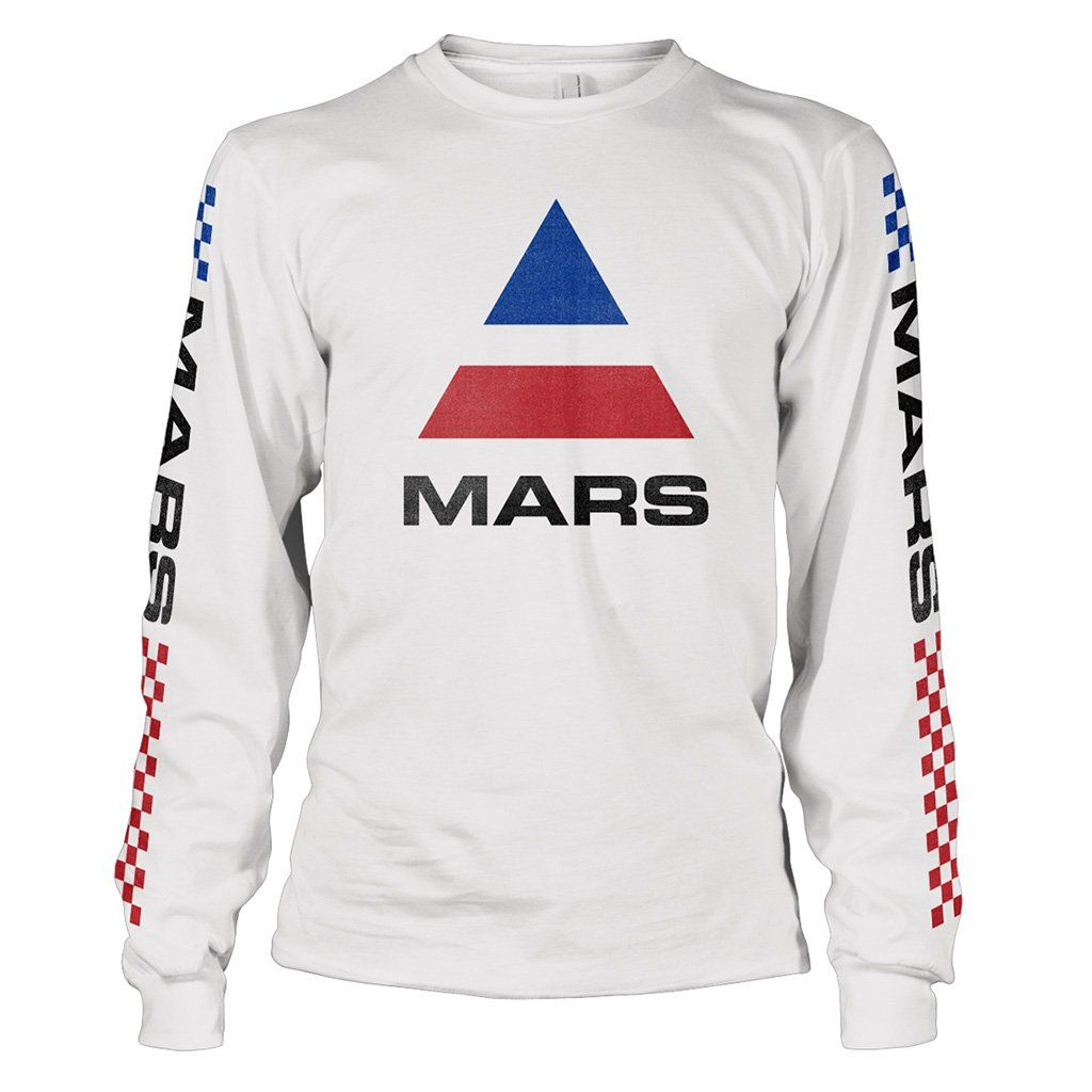 5ea07c4be Long sleeve cotton tee with faded Mars logo on front and BMX detailing down  the arms. No graphic on back. 100% Cotton