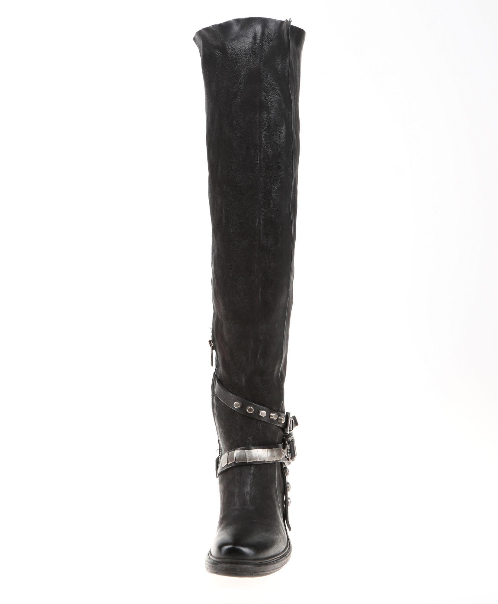 e4049913e0723 Journee Collection Women s  Bite  Regular and Wide-calf Buckle Knee-high  Riding Boot (Black - 6 Medium Width Medium Calf) (leather) in 2019