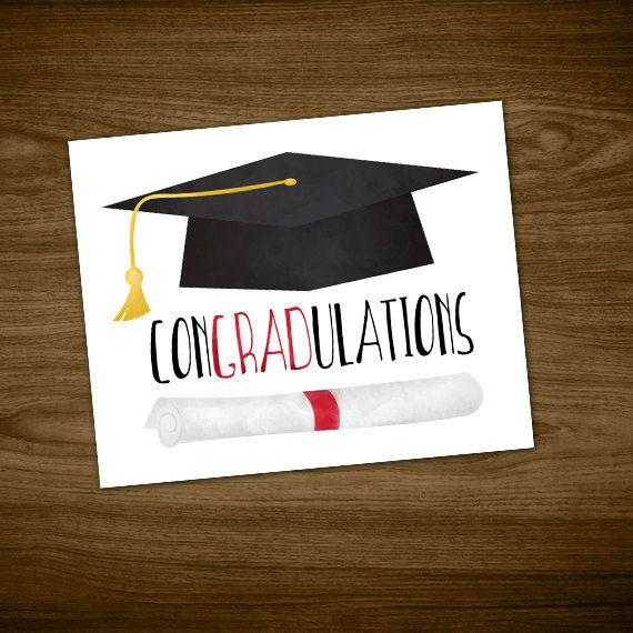 congradulations digital 8x10 printable poster graduation hat