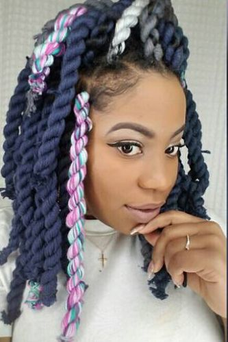 21 Beautiful Black Women Slaying In Yarn Twists Braids And Locs Yarn Braids Styles Hair Styles Yarn Twist