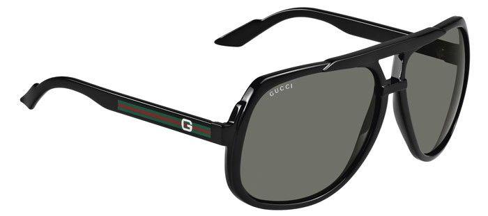 b383b1b38eb Gucci GG1622 S Sunglasses – 0D28 Shiny Black (R6 Grey Lens) – 63mm