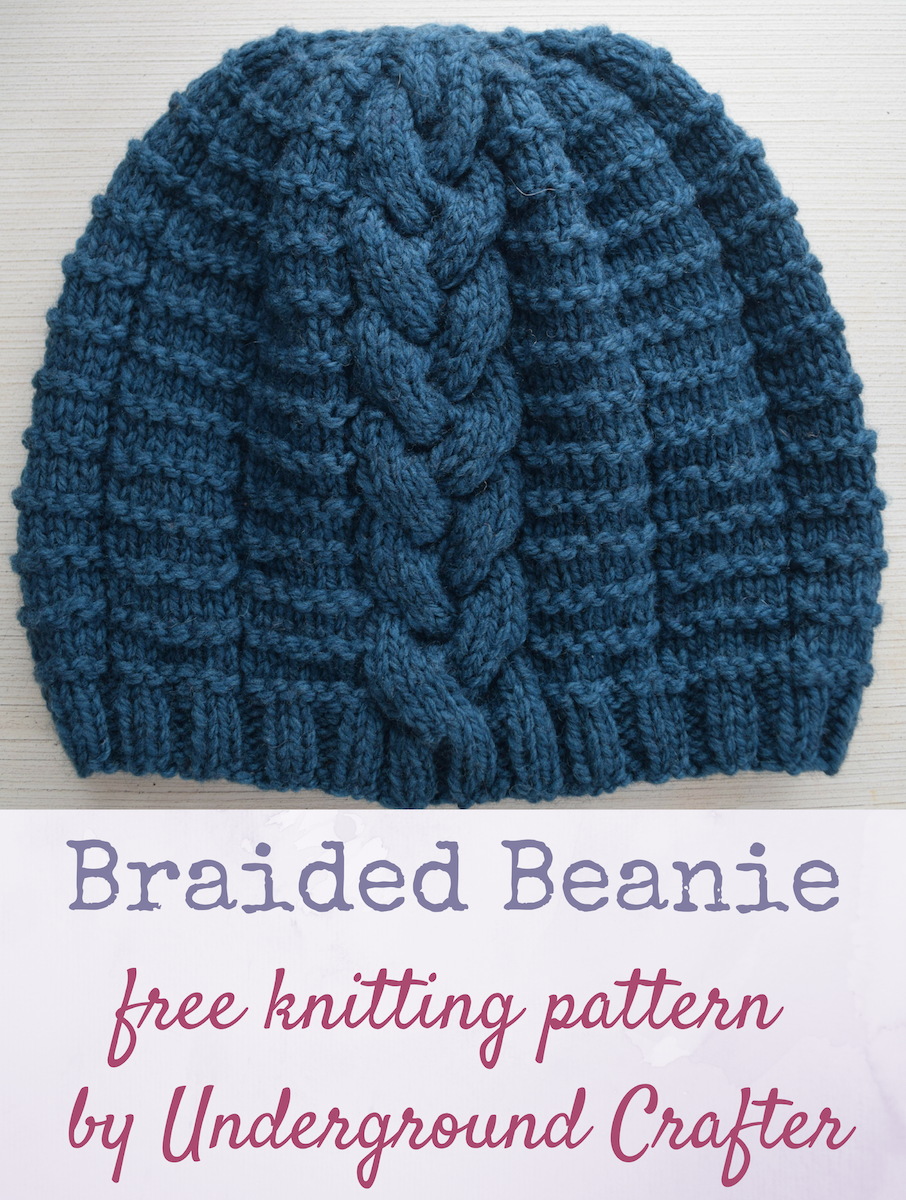 Free knitting pattern braided beanie in imperial yarn erin by free knitting pattern braided beanie in imperial yarn erin by underground crafter a single bankloansurffo Images