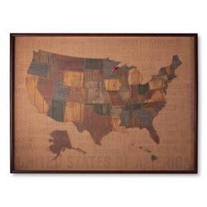 Cork Board US Map Flags Target And Cork Boards - Corkboard us map