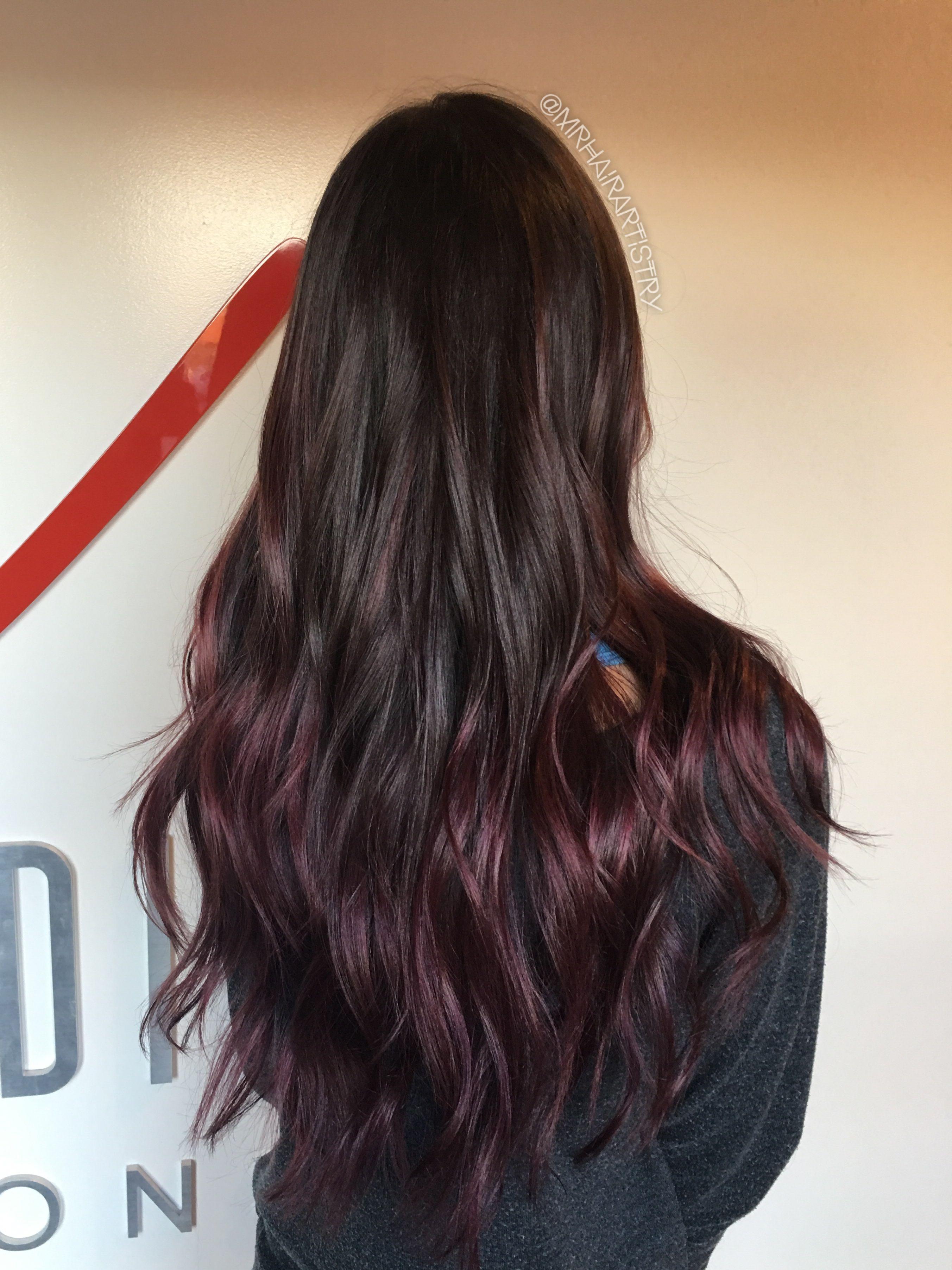 maroon balayage | beautiful hair | hair, balayage, ombre hair