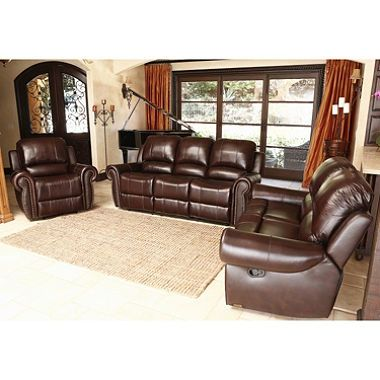 Leather Reclining Sets Home Design Ideas