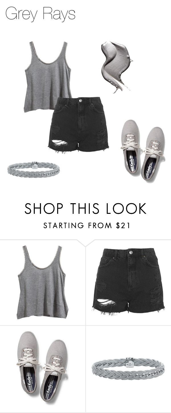 """""""Grey Rays"""" by thebanshee24 on Polyvore featuring H&M, Topshop, Keds, Alor and grey"""