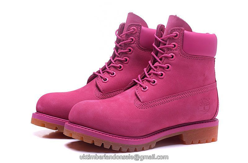 1644587d501a UK Authentic Timberland Women Dark-Pink 6 Inch Premium Nubuck Boots £ 75.19
