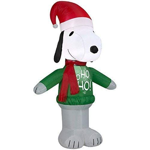 Gemmy 15375 Airblown Snoopy Ho Sweater Christmas Inflatable 35FT