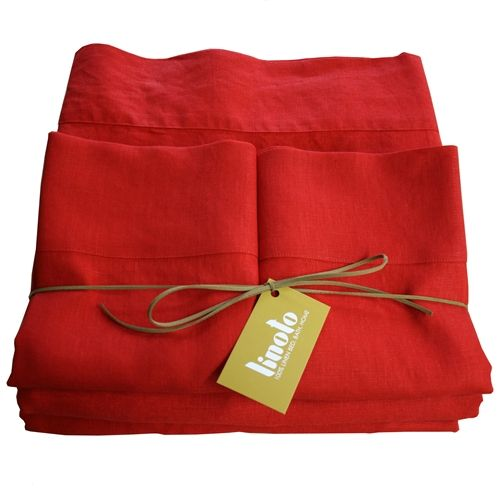 Red Linen Sheets