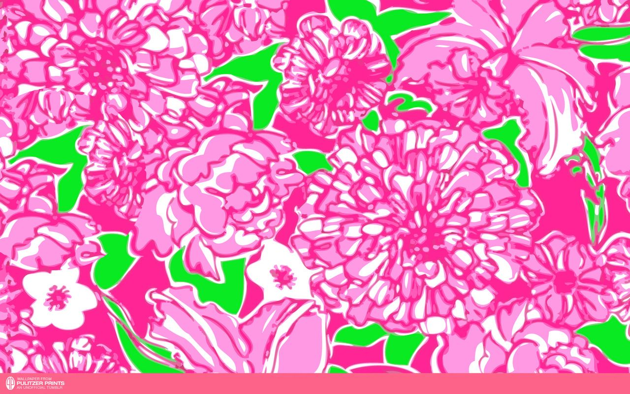 The prints were colourful and bright mainly pink and green with