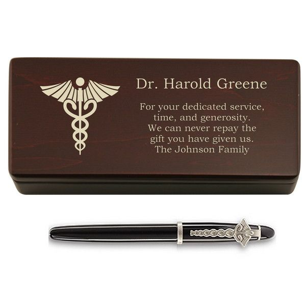 Personalized Pen And Box For Doctors Medical School Graduation