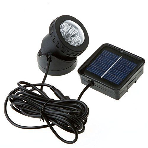 Metro Shop Waterproof Solar Powered Led Spotlight Spot Light Lamp