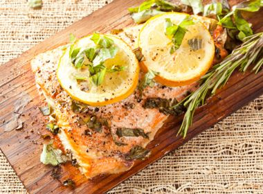 Roast lemon herb salmon readers digest b food pinterest herb stuffed salmon and bok choy recipe forumfinder Image collections