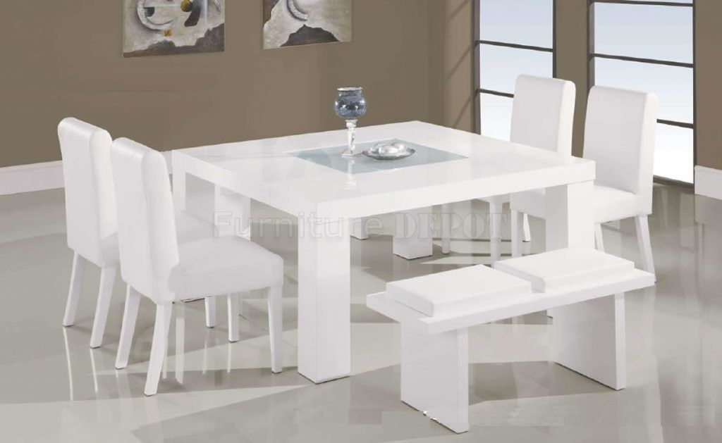 White Dining Room Set White Dining Room Table And Chairs ...