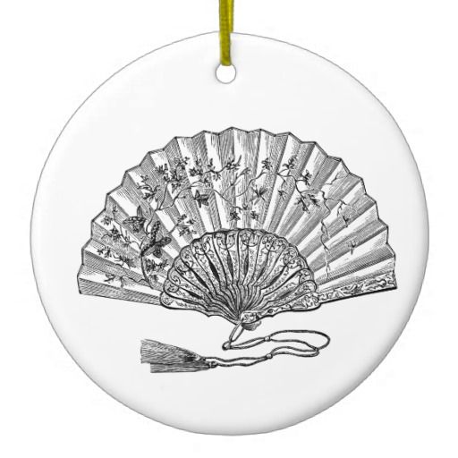Vintage Hand Fan Ornament