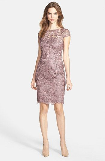 Another Vegas Dress for Mom Adrianna Papell Lace Sheath Dress ...