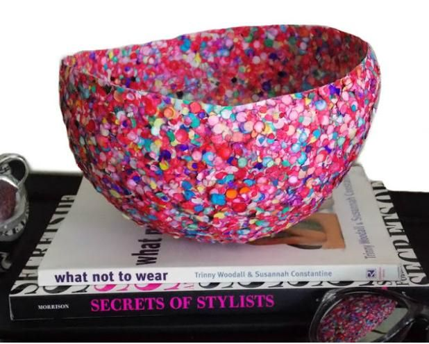 How to make Confetti Bowl step-by-step. Cool!