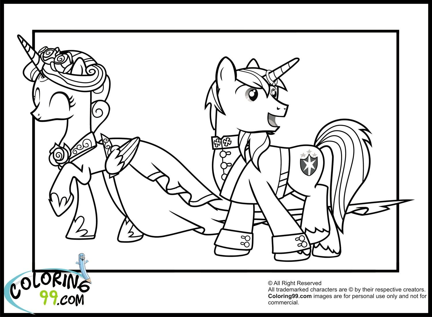 My Little Pony Coloring Pages Princess Cadence Filly