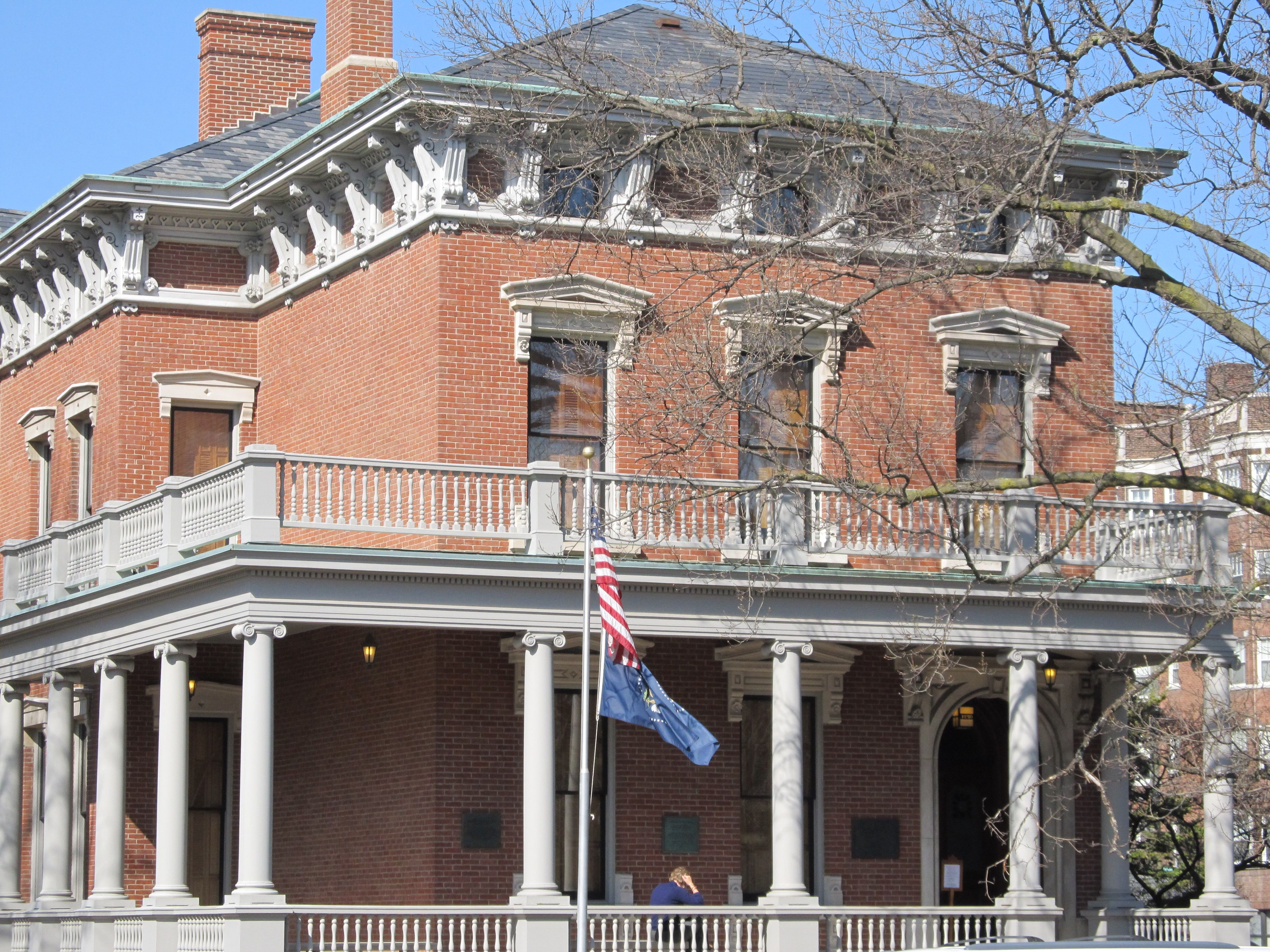 The Benjamin Harrison house in Indianapolis, IN. Lots of ...  Benjamin Harrison House
