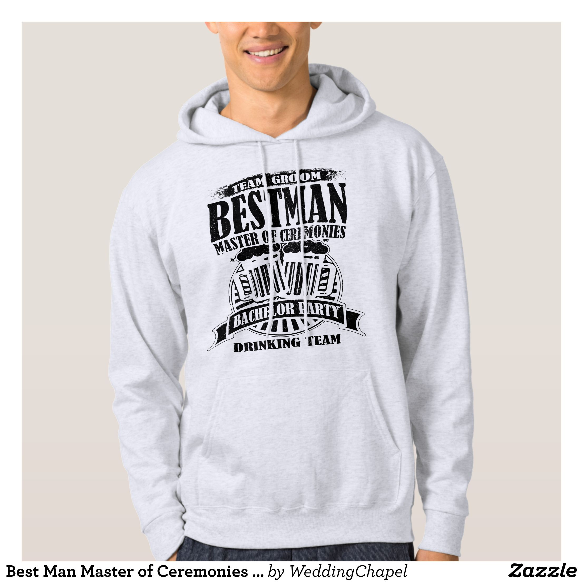 Best Man Master of Ceremonies Groom Bachelor Party Hoodie - Stylish ...