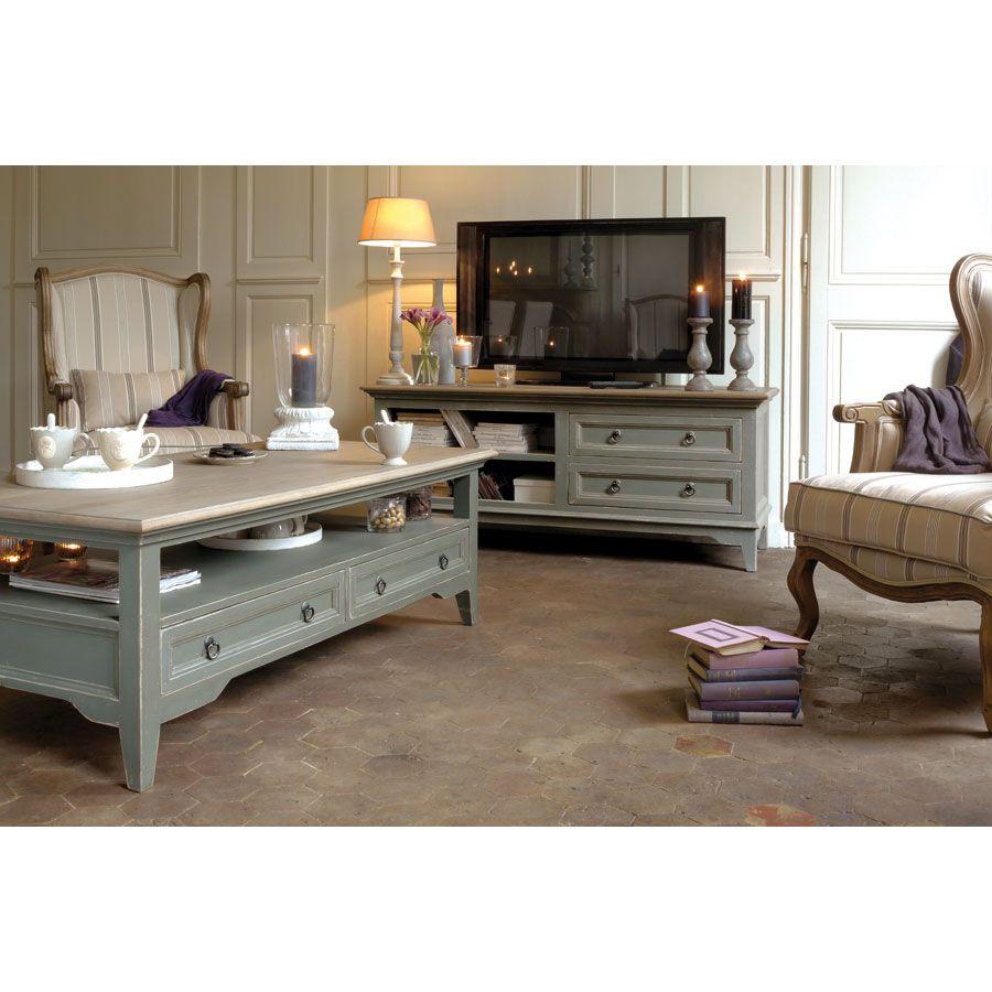 Meuble Tv Style Campagne Pour La Maison Pinterest Meuble Tv  # Meuble Tv Style Romantique