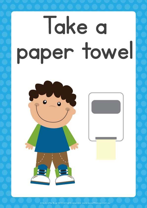 Bathroom Hygiene Signs | Preschool activities, Robot ...