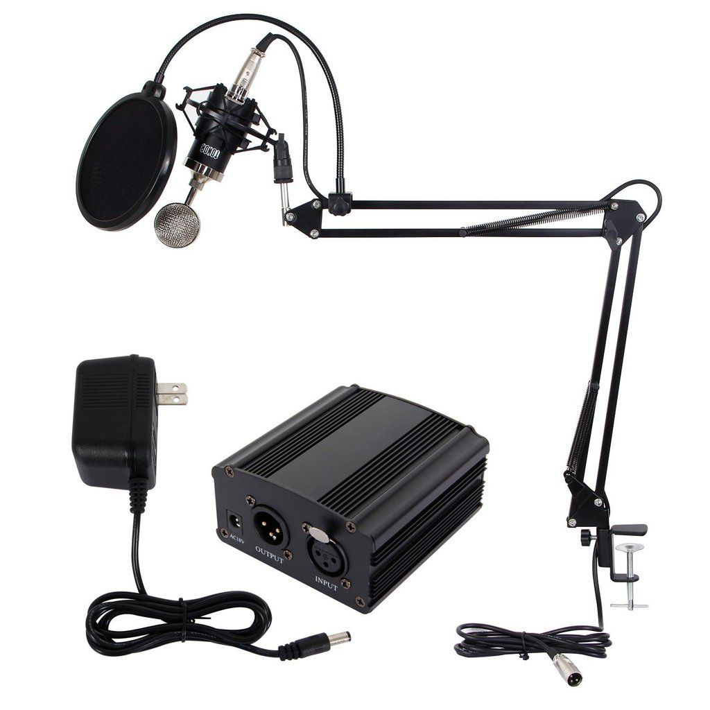 TONOR Pro Studio Condenser Recording Microphone Mic+Shock Mount Suspension Stand