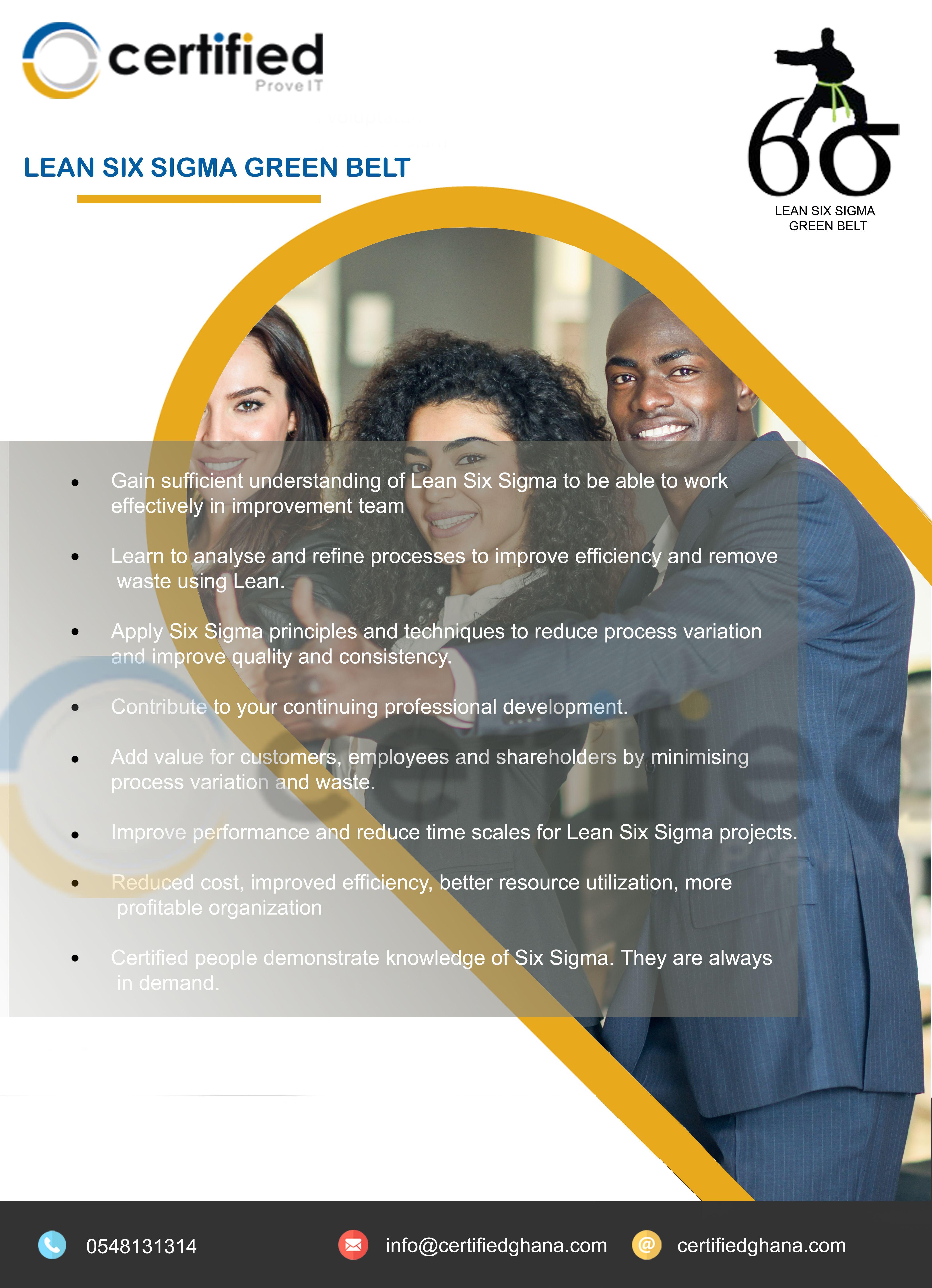 Enroll For Certified Lean Six Sigma Green Belt Certification