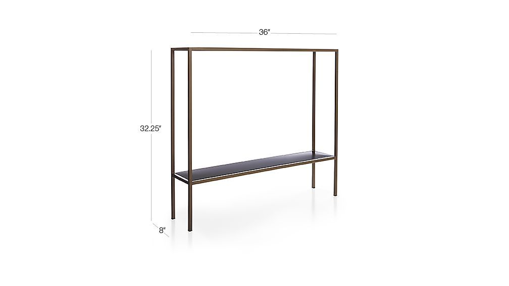 Remi Console Table 36 W X 8 D X 32 25 H 299 At Crate And Barrel