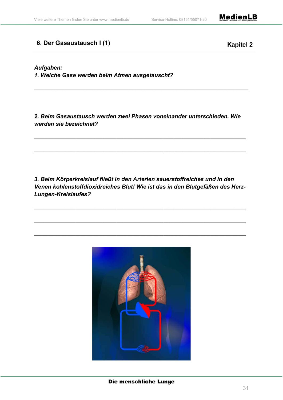 Der Gasaustausch in der Lunge – Unterrichtsmaterial im Fach ...