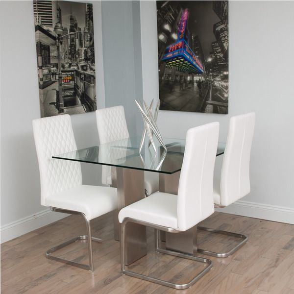 Brushed Stainless Steel Square Glass Dining Tablematrix Captivating Glass Tables For Dining Room Design Inspiration
