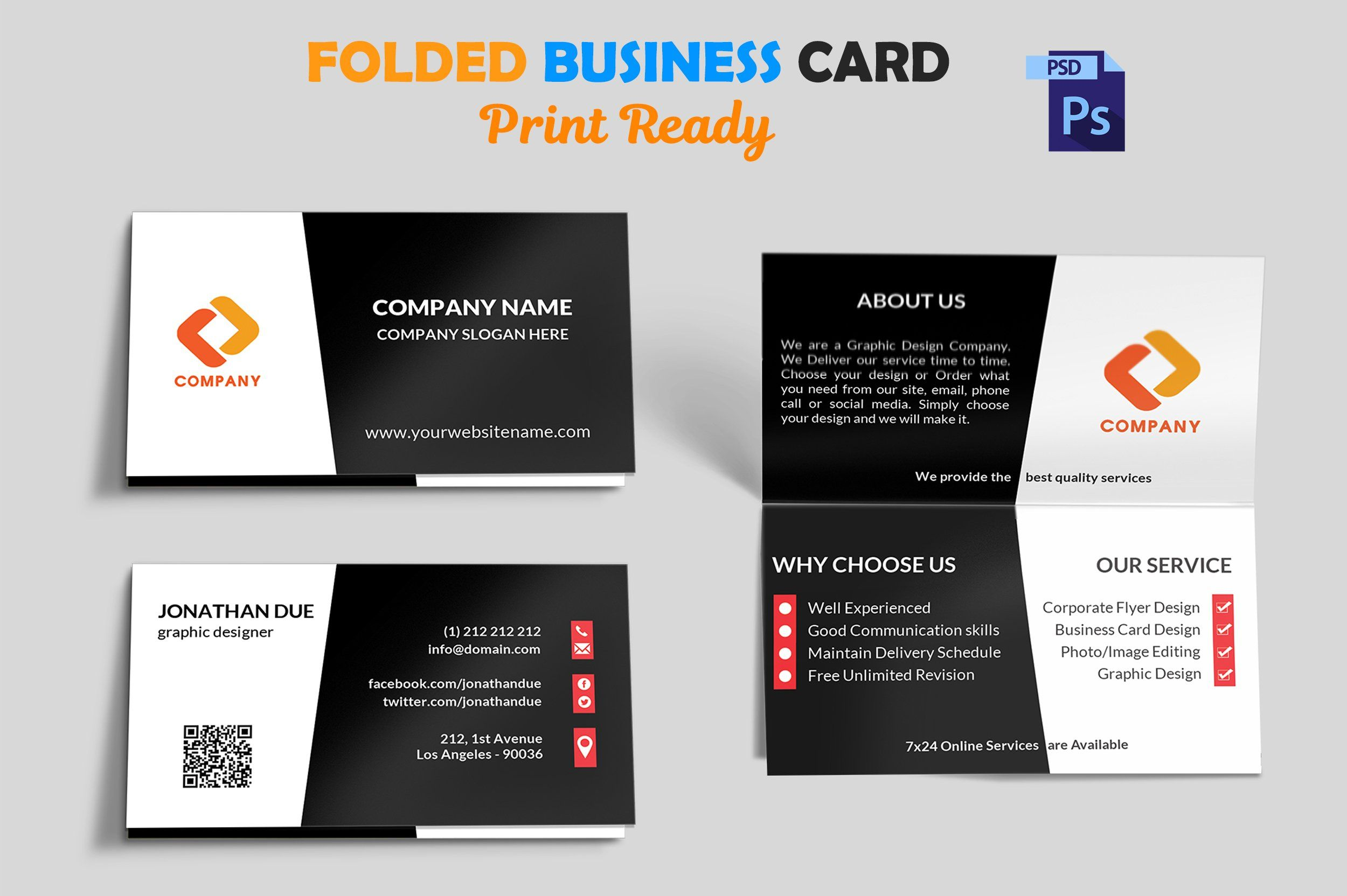 Creative Folded Business Card Vol 3 Folded Business Cards